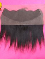 fechamento indiano sloev cabelo 7a reta laço frontal com cabelo humano cabelo frontal laço completo 13x4 cabelo do bebê virgem