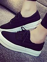 Scarpe Donna-Sneakers alla moda-Casual-Punta arrotondata-Piatto-Tessuto-Nero / Rosso / Bianco