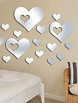 Top Selling Home Decal Decor 15PCS 3D DIY Love Heart Mirror Surface Art Acrylic Wall Sticker