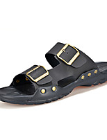 Men's Shoes Outdoor / Casual Flip-Flops Black / Brown