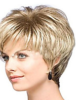 Hot European Women Lady Short Curly Blonde Color Synthetic Hair