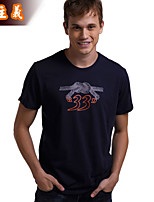 Men's Short Sleeve T-Shirt,Cotton Casual Print