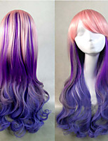 Fashion Color Cartoon Long Curly Wig Color Hair Wigs