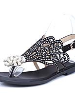 Women's Shoes Flat Heel Slingback Sandals Outdoor / Dress / Casual Black / Purple
