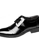 Men's Oxfords Comfort Casual Office & Career Party & Evening Walking Comfort Low Heel Black