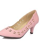 Scarpe Donna-Scarpe col tacco-Matrimonio / Ufficio e lavoro / Serata e festa-Tacchi-A stiletto-Finta pelle-Nero / Rosa / Bianco / Tessuto