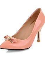 Chaussures Femme-Mariage / Bureau & Travail / Soirée & Evénement-Noir / Bleu / Rose / Beige-Talon Aiguille-Talons-Talons-Similicuir