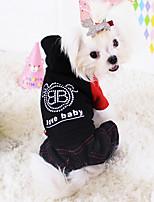 Dog Coat Red / Black Winter Fashion