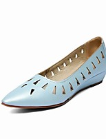 Women's Shoes  Low Heel Boat / Comfort / Pointed Toe Loafers Outdoor / Office & Career Black / Blue / White