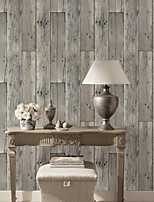 HaokHome® Vintage Woods Panel Wallpaper Rolls Lt.Grey Trees Vinyl Kitchen Wall Paper Murals Realistic Home Decoration