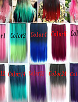 Popular Mixed Color Straight Hair Piece High Temperature Fiber Synthetic Hair Extention