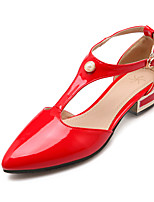 Women's Shoes Patent Leather Low Heel Heels Heels Office & Career / Dress Black / Red / White