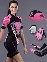 Conjuntos de Roupas/Ternos / Shorts / Chapéus / braço aquecedores(Preto) - deCiclismo / Motorbike-Mulheres-Respirável / Resistente Raios