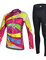 CHEJI Women Cycling Bike Bicycle Sportswear Clothing Long Sleeve Jersey Trousers Wear Suit