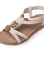 Women's Shoes Leatherette Flat Heel Comfort Sandals Casual Black / Brown / White