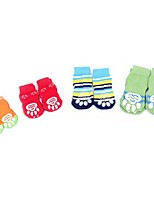 Socks & Boots for Dogs Red / Green / Blue / Yellow Summer / Spring/Fall Striped / Fashion S / M / L / XL