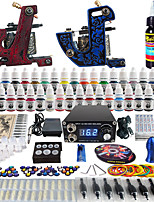 Solong Tattoo Complete Beginner Tattoo Kit 2 Pro Machine Guns 40 Inks Power Supply Needle Grips Tips TKB11
