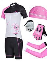 Conjuntos de Roupas/Ternos / Shorts / Chapéus / braço aquecedores(Branco) - deCiclismo / Motorbike-Mulheres-Respirável / Resistente Raios