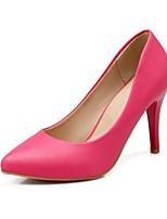 Calçados Femininos-Saltos-Saltos-Salto Agulha-Preto / Verde / Vermelho / Bege-Courino-Casamento / Escritório & Trabalho / Festas & Noite
