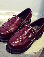 Women's Shoes Leatherette Platform Creepers Fashion Sneakers Outdoor / Casual Black / Burgundy