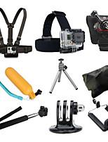 9 GoPro-Zubehör Halterung / Stativ / Träger / Taschen / Boje / Accessoires Kit FürAlles / Gopro Hero 4 / Gopro Hero 4 Schwarz / SJ4000 /
