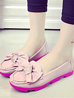 Women's Shoes Leatherette Platform Creepers / Comfort Flats Outdoor / Casual Black / Pink / White