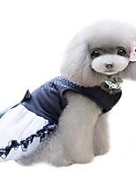 Dog Dress Black Summer / Spring/Fall Crystal/Rhinestone Fashion