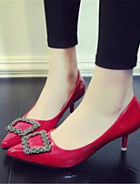 Women's Shoes Stiletto Heel Pointed Toe Heels Dress Black / Pink / Red / Gray