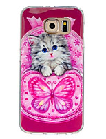 For Samsung Galaxy Case Pattern Case Back Cover Case Cat TPU Samsung S7 / S6 edge / S6