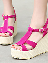 Women's Shoes Heel Wedges / Heels / Peep Toe / Platform Sandals / Heels Outdoor / Dress / Casual Black / Blue / Red