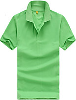 Men's Short Sleeve Polo,Polyester Work Pure