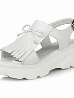 Women's Shoes Flat Heel Platform / Comfort / Open Toe Sandals Outdoor / Dress White / Silver