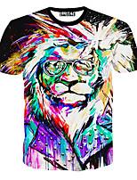Herren Freizeit T-Shirt - Druck Kurz Baumwolle