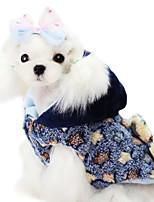 Dog Coat Blue / Yellow Winter Stars Fashion