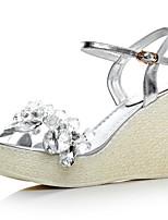 Women's Shoes Leather Wedge Heel Wedges / Platform / Slingback Sandals Office & Career / Dress / (Genuine leather)
