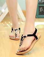 Women's Shoes Fleece Flat Heel Comfort Sandals Outdoor / Casual Black / Blue / Beige