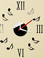 New Qualified Note Music Notation DIY Self Adhesive Interior Wall Creative Decoration Clock