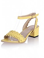 Women's Shoes Leatherette Chunky Heel Peep Toe Sandals Outdoor / Office & Career / Party