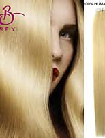 ruban dans les cheveux humains poste # 613 lumière 20pcs couleur blond remy brazilian extensions de cheveux raides de trame de la peau