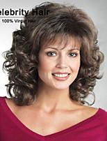 style africain de la mode perruque brune de haute qualité fil à haute température courte perruque de cheveux bouclés