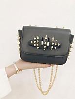 Women PU Sling Bag Shoulder Bag - White / Pink / Gray / Black