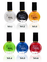 6pcs/lot Nail Printing Oil Colorful Nail Polish
