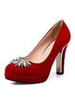 Women's Wedding Shoes Heels Heels Wedding / Office & Career / Party & Evening / Dress Black / Red