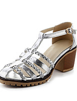 Women's Shoes  Chunky Heel Heels / Round Toe Heels Office & Career / Party & Evening / Dress White / Silver / Gold