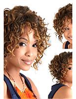 alambre de alta temperatura caliente de la venta mezcla africano estilo de la moda de la peluca del color peluca de pelo corto y rizado