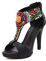 Women's Shoes  Stiletto Heel Heels / Slingback / Open Toe Sandals Dress Black