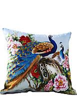 3D Design Print Blue Peacock Decorative Throw Pillow Case Cushion Cover for Sofa Home Decor Polyester Soft Material