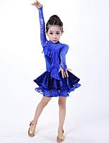 Vestidos(Azul,Encaje,Danza Latina) -Danza Latina- paraNiños