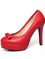 Women's Shoes Leatherette Stiletto Heel Heels Heels Wedding / Office & Career / Party & Evening Black / Red / Beige