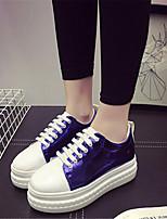 Scarpe Donna-Sneakers alla moda-Tempo libero / Casual-Creepers-Plateau-Finta pelle-Nero / Rosa / Bianco / Royal Blue